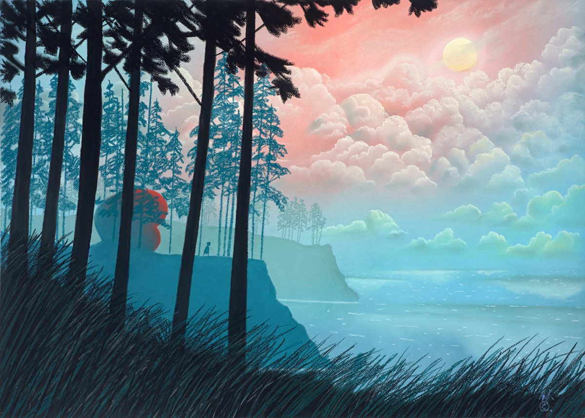 Morning by mackenzie thorpe -  sized 35x25 inches. Available from Whitewall Galleries